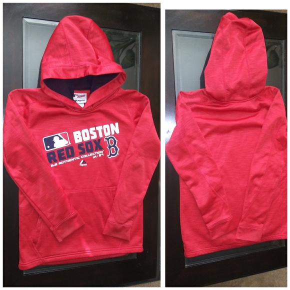 separation shoes b908c 0ac3a RED SOX MAJESTIC PULLOVER HOODIE SIZE YOUTH SZ 10